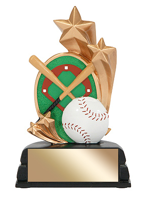 "6"" Baseball Trophy Star Series"