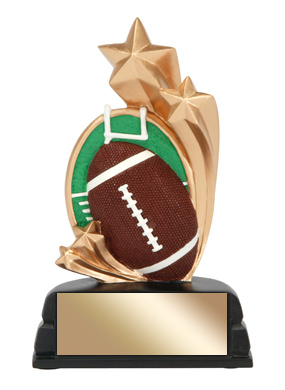 "6"" Football Trophy Star Series"