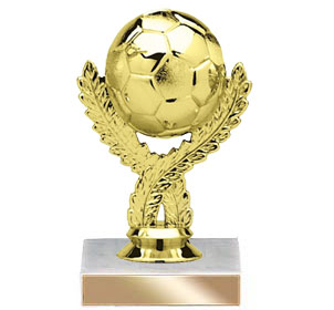 "5-3/4"" Golden Soccerball Trophy"