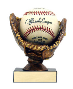 4-3/4 in Baseball Holder Trophy - Bronze