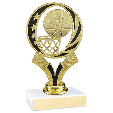 "5-3/4"" Midnite Star Basketball Trophy"