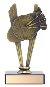 "6"" Metal Darts Trophy"