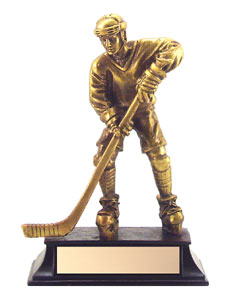"6"" Antique Gold Hockey Trophy"
