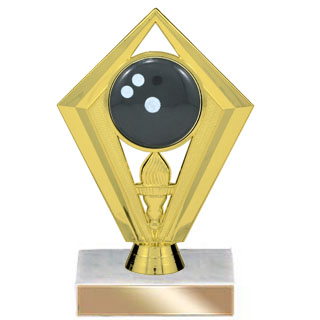 "6-3/4"" Diamond Bowling Trophy"