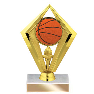 "6-3/4"" Diamond Basketball Trophy"