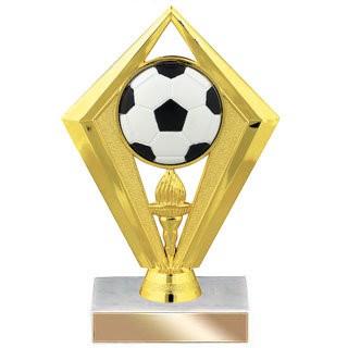 "6-3/4"" Diamond Soccer Trophy"