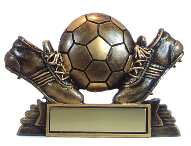 "3-1/2"" Bronze Resin Soccer Trophy"