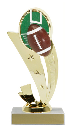 "7-1/4"" Color Football Trophy"