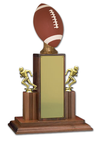25 in Championship Football Trophy