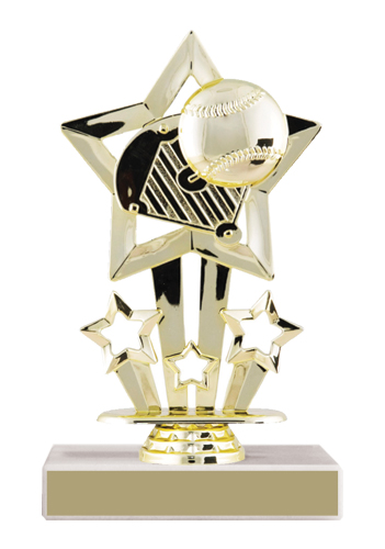 Star Baseball Trophy
