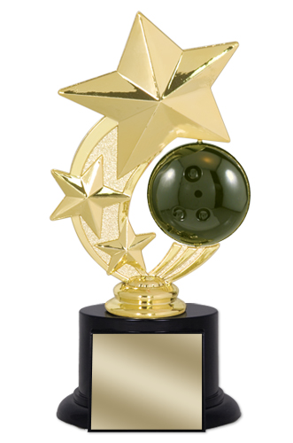 "7"" Bowling Trophy with Round Black Base"