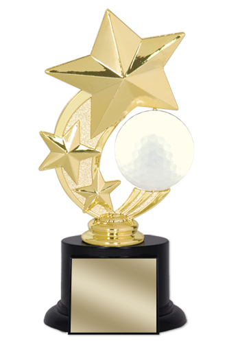 7 in Golf Trophy with Round Black Base