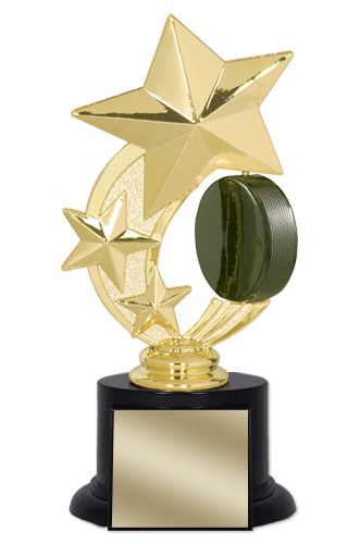 "7"" Hockey Trophy with Round Black Base"