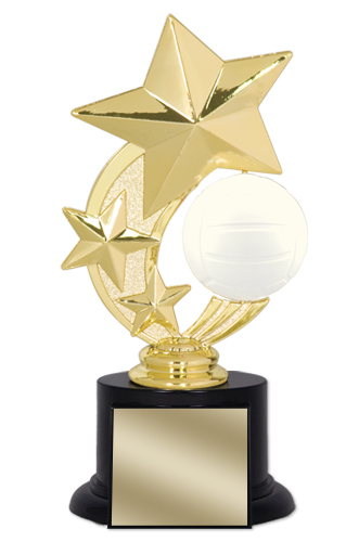 "7"" Volleyball Trophy with Round Black Base"