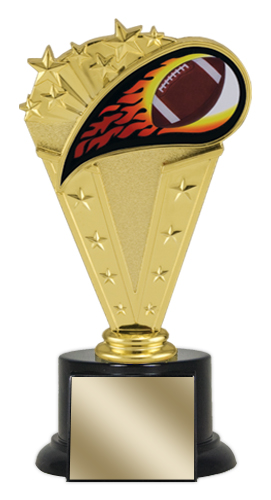 "8"" Football Trophy with Round Black Base"