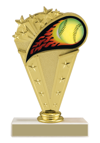 "6-3/4"" Softball Trophy"