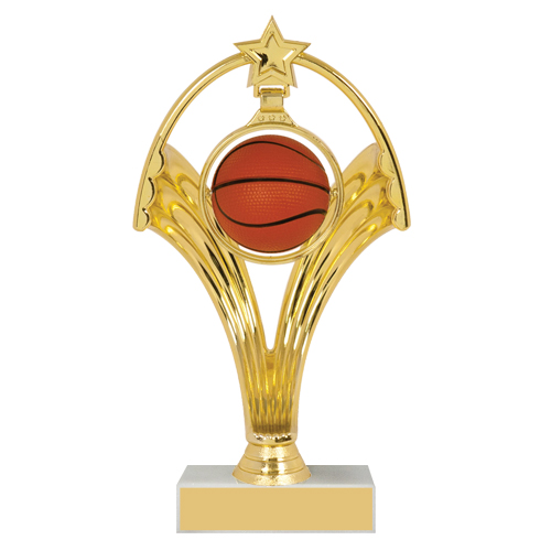 7 3/4 in Swinging Figure Basketball Trophy