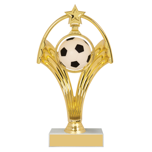 "7 3/4"" Swinging Figure Soccer Trophy"