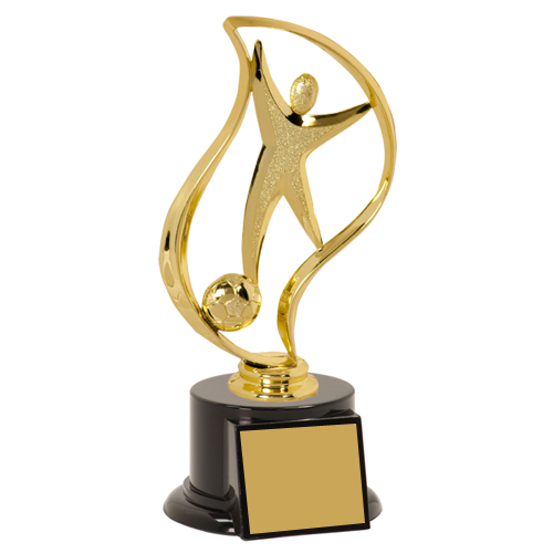 "8"" Soccer Trophy with Torch Figurine"