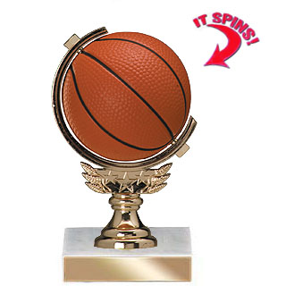 "5-3/4"" Soft Spinning Sports Ball Trophy"