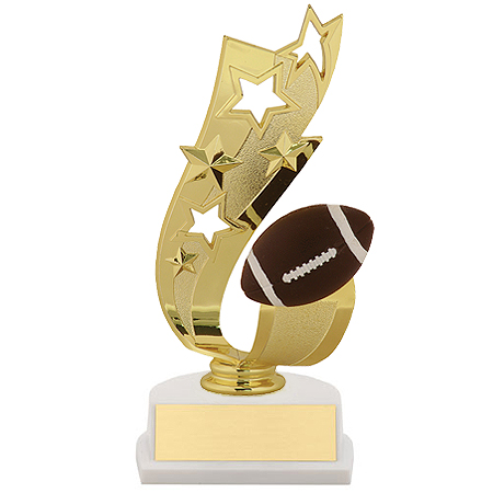 7 in Offset Football Ribbon Trophy