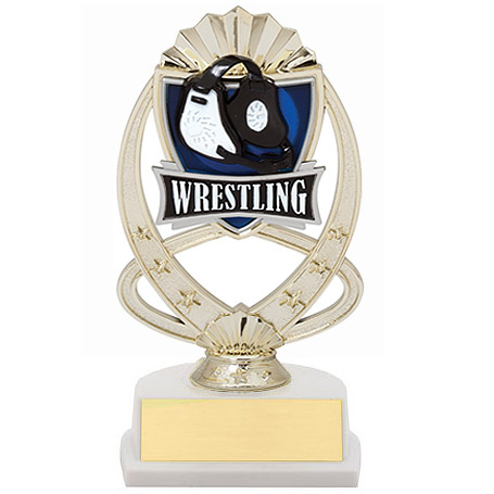 "7.5"" Wrestling Theme Trophy"