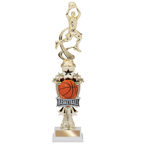 "14"" Allstar Male Basketball Trophy"