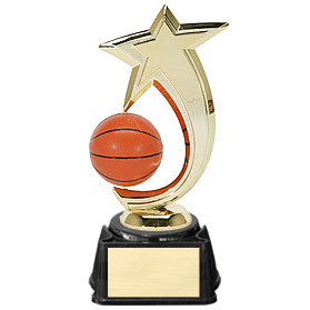 "8"" Basketball Shooting Star Spinner Trophy"
