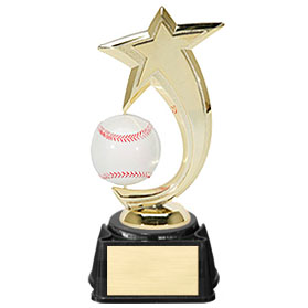 "8"" Baseball Shooting Star Spinner Trophy"