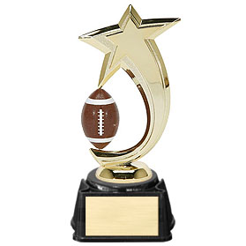 8 in Football Shooting Star Spinner Trophy