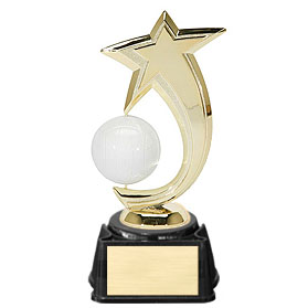 8 in Volleyball Shooting Star Spinner Trophy