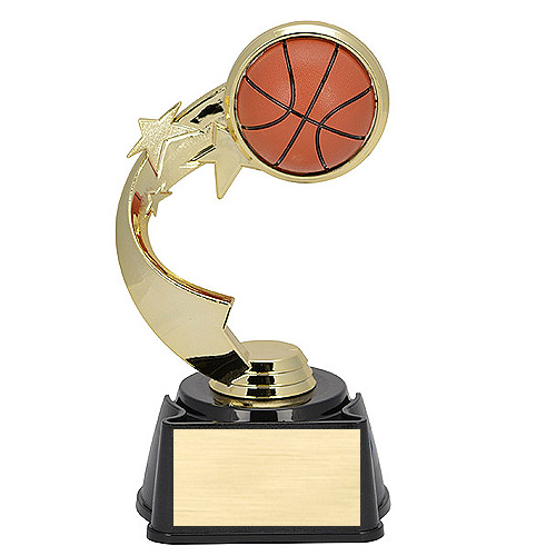 7 in Ribbon Star Basketball Trophy