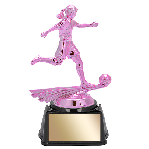 "6-3/4"" Female Soccer Trophy"