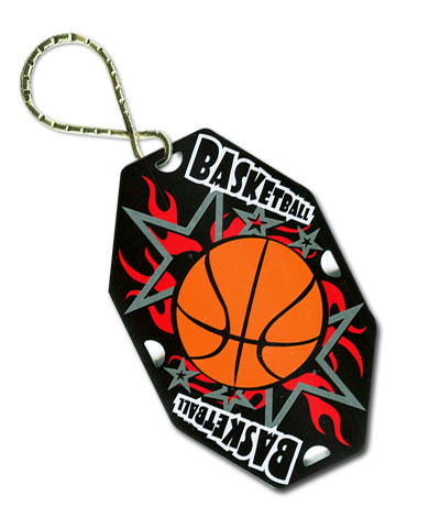 Basketball Key Ring with Key Chain