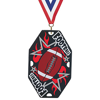 "Football Dog Tag with 30"" Ribbon"