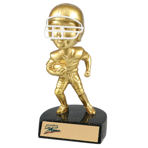 "6"" Resin Football Bobblehead Trophy"
