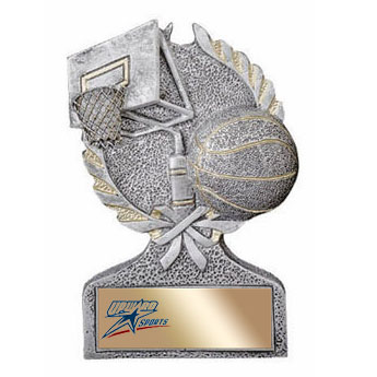 "5"" Resin Laurel Basketball Trophy"