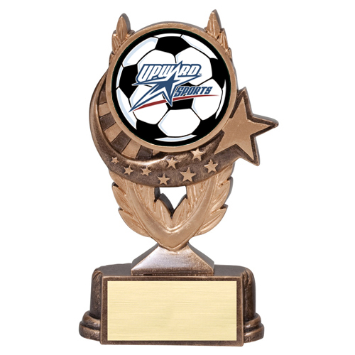 Soccer Trophy with Upward Mylar Scene