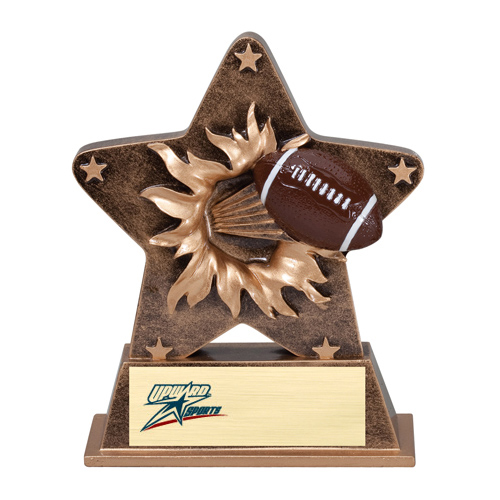 5-1/4 in Starburst Resin Football Trophy