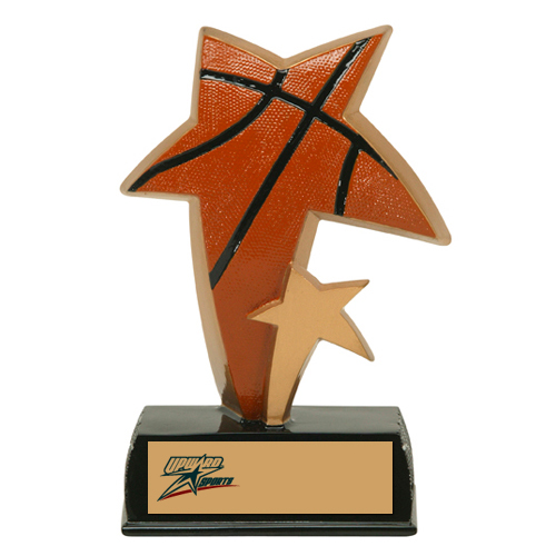 6 in Color Resin Sports Star Basketball Trophy