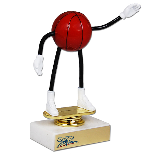 Flexible Basketball Trophy
