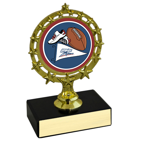 "4-3/4"" Star Circle Football Trophy"