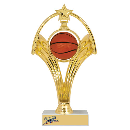 "7-3/4"" Swinging Figure Basketball Trophy"