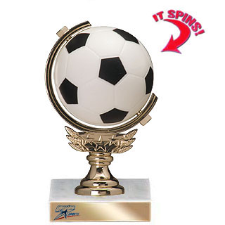 5-3/4 in Soft Spinning Sports Ball Trophy