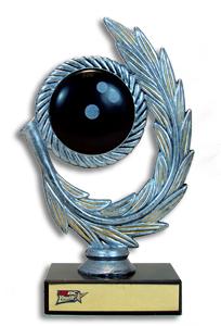 "6-3/4"" Resin Wreath Bowling Trophy"