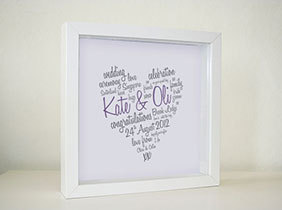 Framed Print - Script Heart (€25 plus P&P)