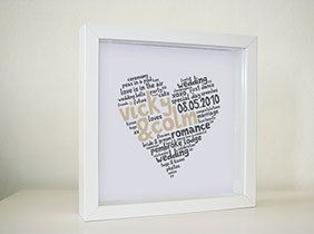 Framed Print - Funky Heart (€25 plus P&P)