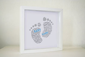 Framed Print - Vintage Baby Feet (€25 plus P&P)