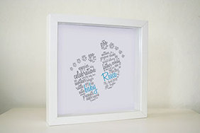 Framed Print - Script Baby Feet (€25 plus P&P)