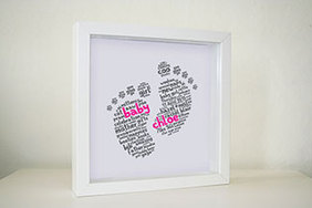 Framed Print - Funky Baby Feet (€25 plus P&P)